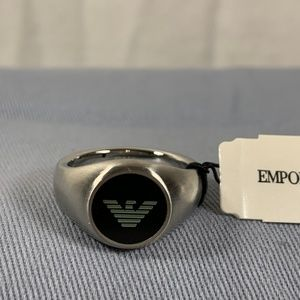 Emporio Armani Men's Ring Size 10 Stainless Steel